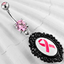 Breast cancer awareness navel
