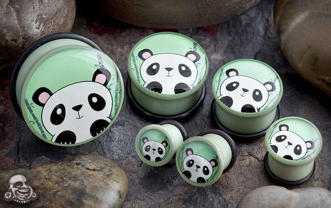 Single Flare Bamboo Panda Plug