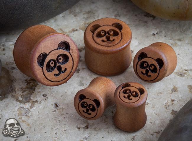 Pear Wood Panda Plugs