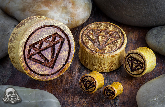 Osage Orange Diamond Plugs