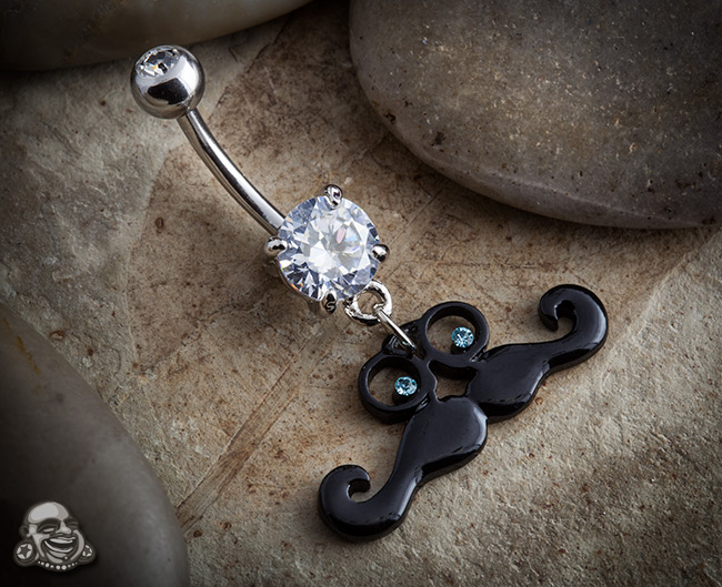 Disguised Mustache Dangle Navel