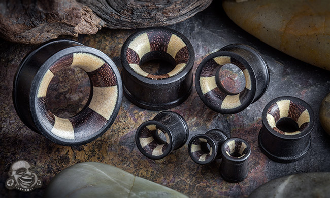 Iron Wood Eyelets with Mixed Wood Inlays