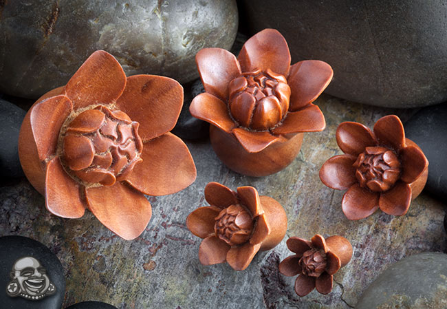 Sabo Wood Bali Bloom Plugs