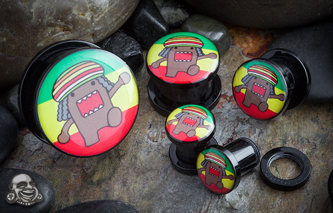 Acrylic Screw Fit Rasta Domo-kun Plug