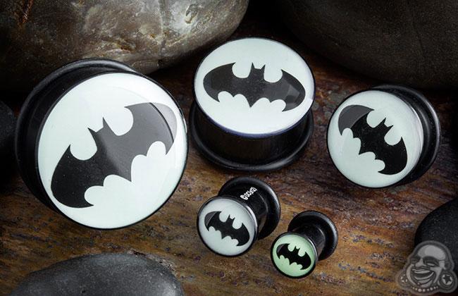 Acrylic Glow in the Dark Batman Plugs
