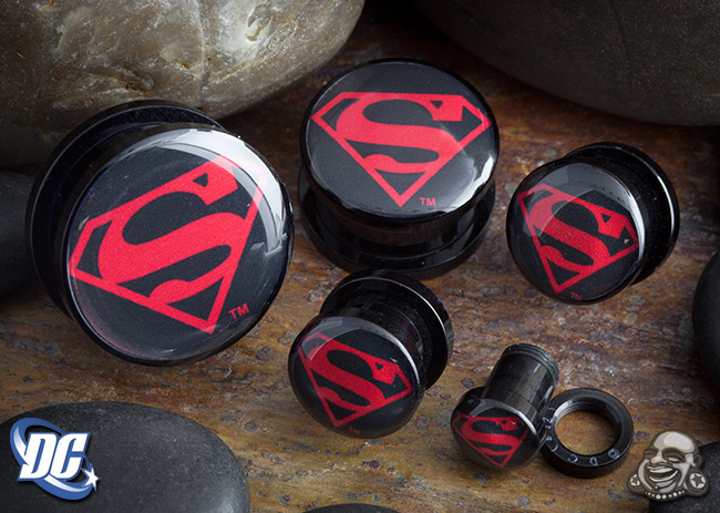 Acrylic Screw Fit Superman Plugs