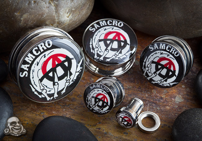 Steel Screw Fit Sons of Anarchy Plugs