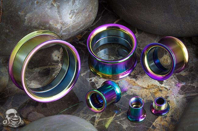 Titanium Plated Internally Threaded Eyelet (Rainbow)