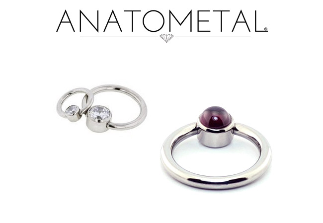 PRE-ORDER Captive Ring with Bezel Set Bead