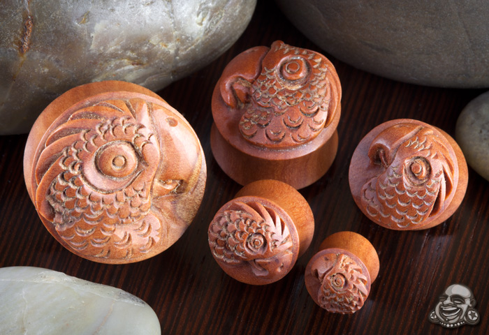 Saba Wood Parrot Plugs