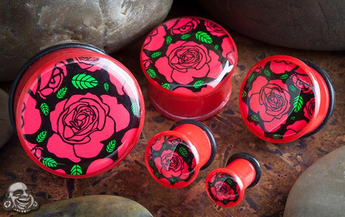 Single Flare Roses Plug