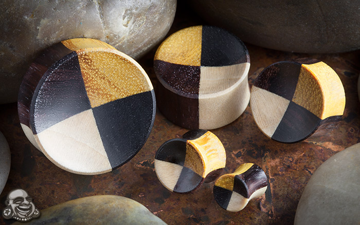 Mixed Wood Concave Plugs