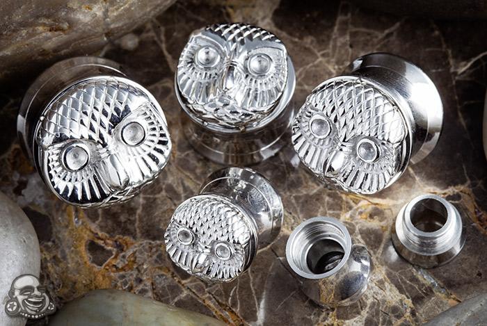 Steel Screw Fit Owl Face Plug