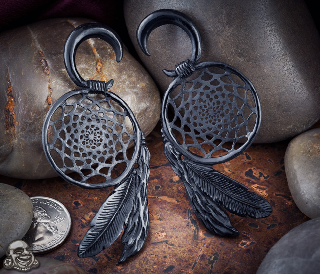 Black Horn Dream Catcher Design