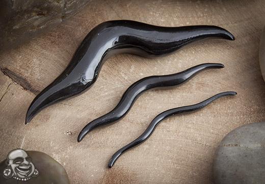 Black Horn Septum Mustache (Swashbuckler)