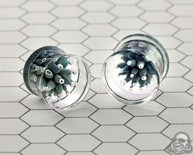 DF Glass Blossom plugs (pair)