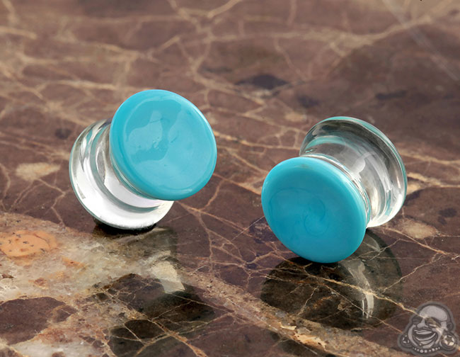 DF Light blue colorfront plugs (pair)