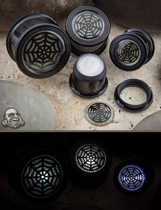 Acrylic LED Fusion Plugs (Spiderweb)