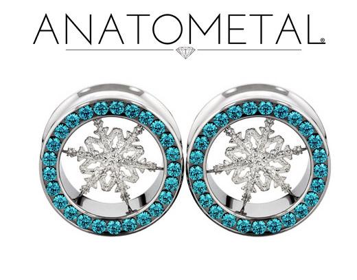 PRE-ORDER Steel Gemmed Eyelet with Silver Snowflake