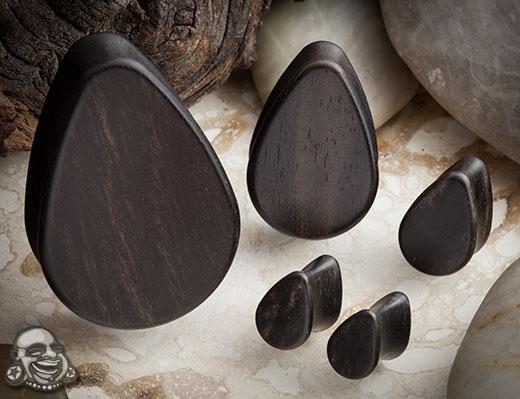 Wood Teardrop Plugs