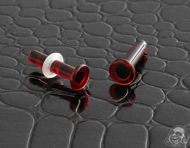 GWS solid ruby single flare plugs (pair)