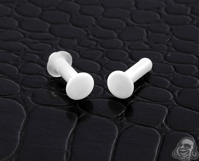 GWS solid white single flare plugs (pair)