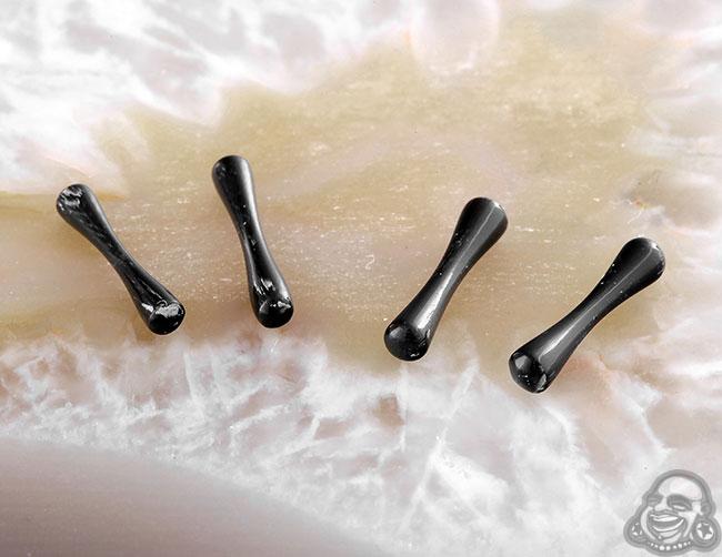 DF Black Horn Mini Plugs (pair)