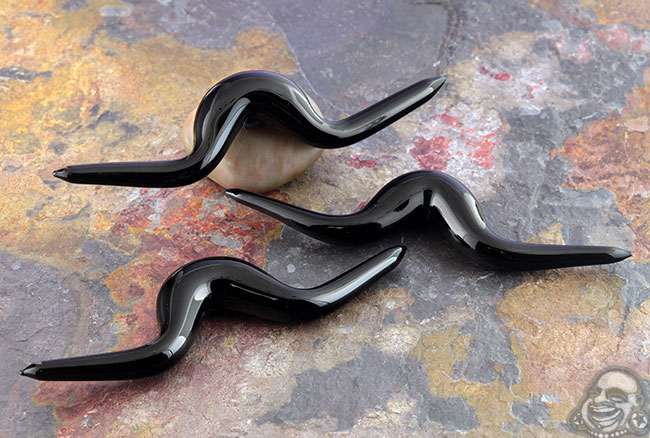 Glass Black Septum Mustache- Dali