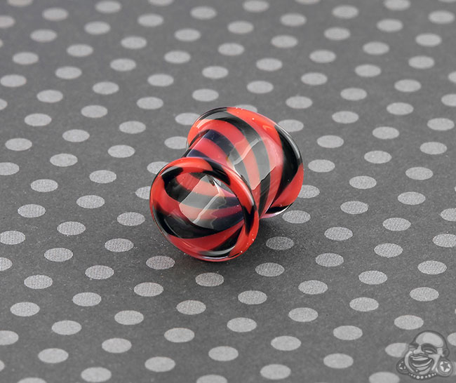 DF Tophat Eyelet- Red and Black Swirl (Single)