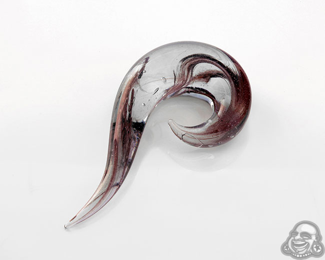 Red Glass Marbelized Tail Spiral (Single)