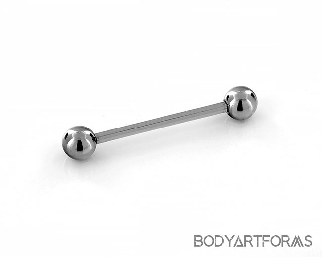 Externally Threaded Straight Barbell with 5mm ball