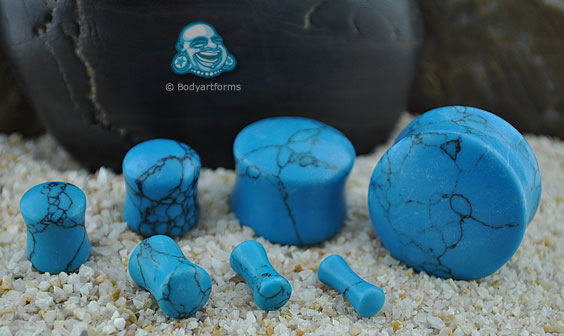 Synthetic Turquoise Stone Plug