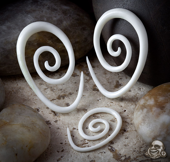 Bone Oval Spirals