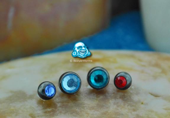 Blackline Internally Threaded Jeweled Ball