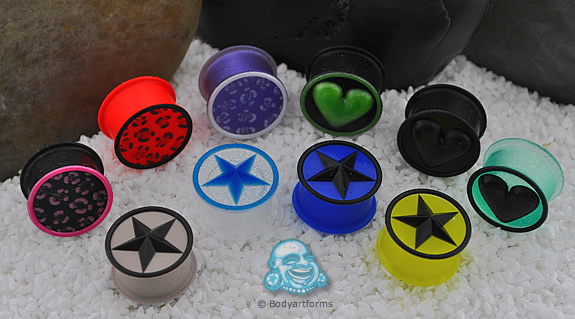 Blemished Silicone Design Front Plugs