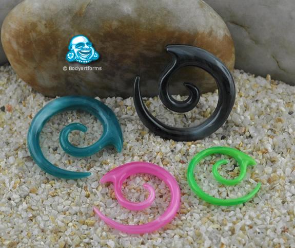Acrylic Marbleized Spiral