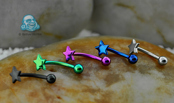 Steel Curved Barbell with Star