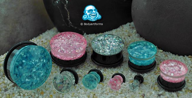 Single Flare Glitter Plug