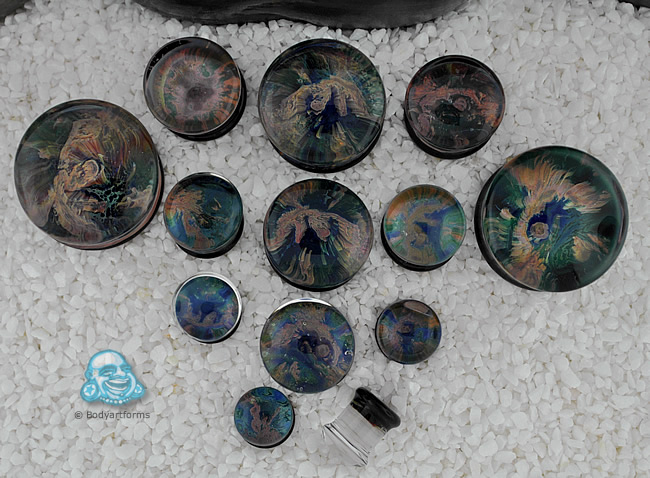 Pyrex Glass Planet Plugs Earth