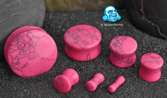 Synthetic Pink Turquoise Plug