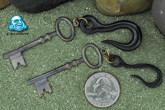 Patina Brass Diary Key Hanging Design