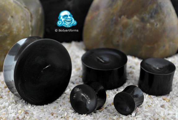 Black Horn Concave Plugs
