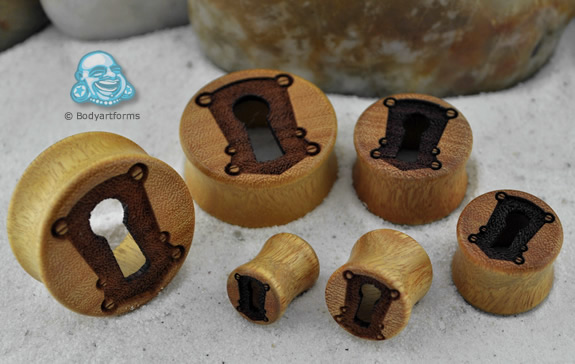 Osage Orange Wood Hollow Keyhole Eyelets