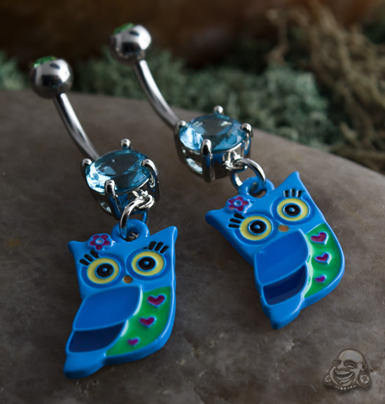 Steel Owl Dangle Navel