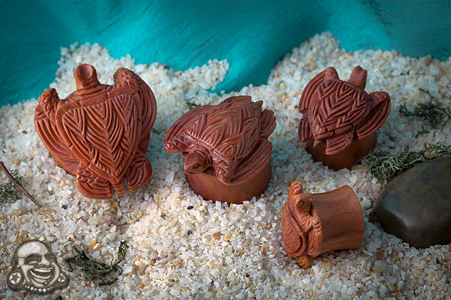 Sabo Wood Sea Turtle Plugs