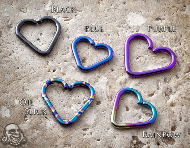 Niobium Heart Shaped Seamless Ring