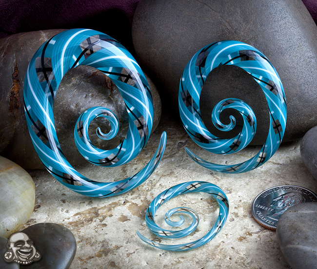 Glass Oval Spirals