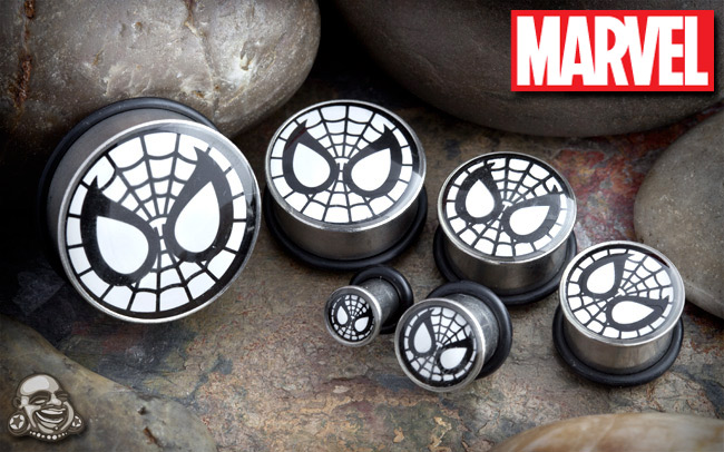 Single Flare Spider-Man Plugs
