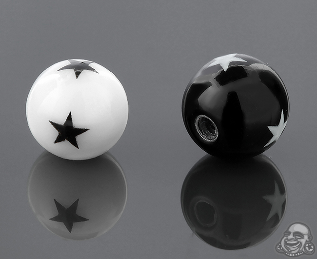 Acrylic Threaded Star Ball