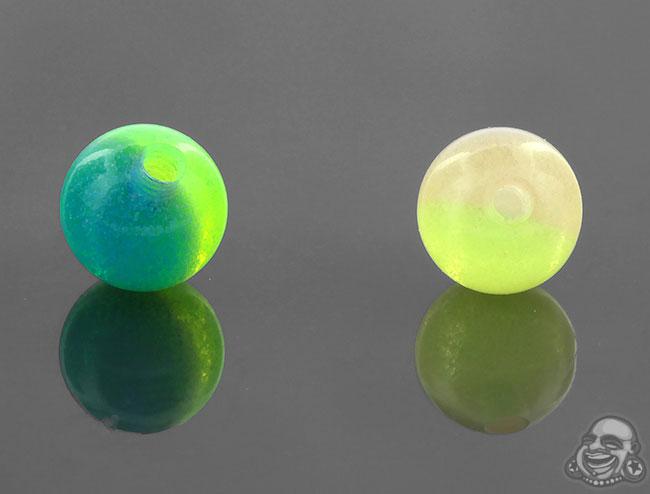 Two Tone Glow in the Dark Threaded Ball